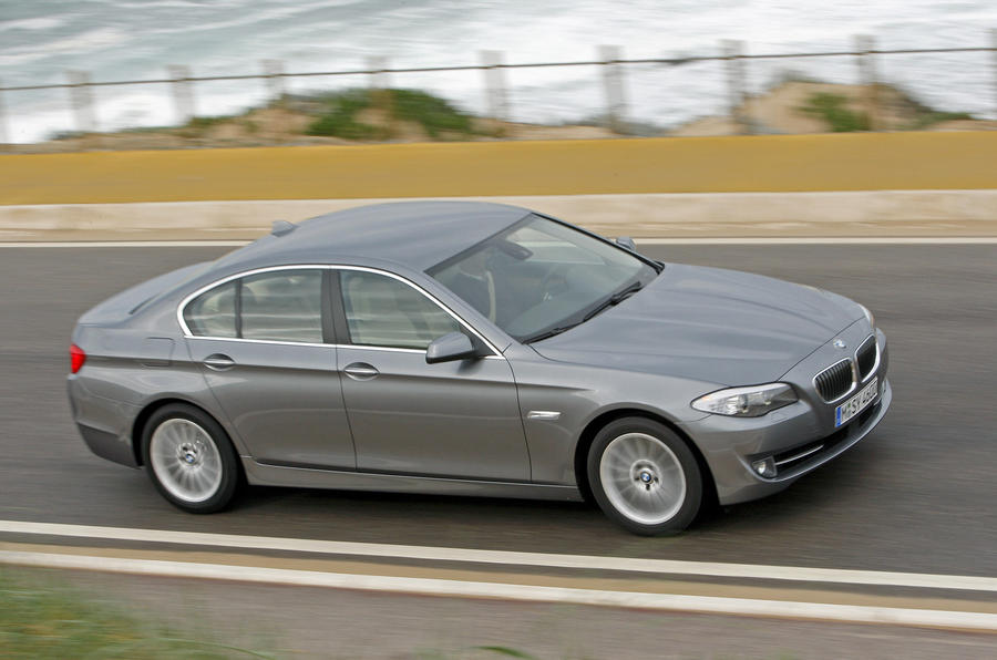 BMW 5 Series 535i on the road