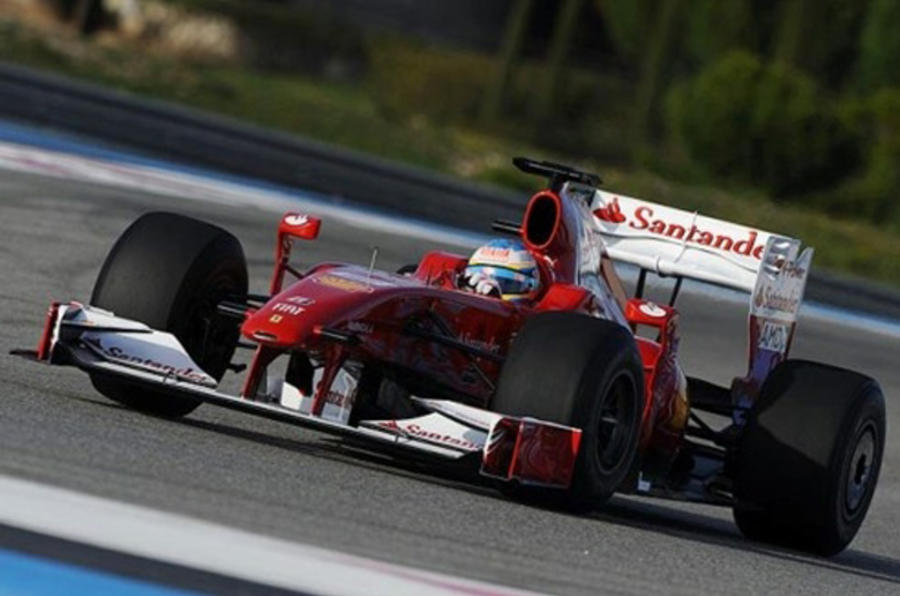 Alonso's first Ferrari test