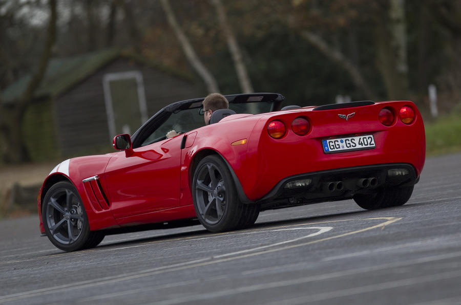 Corvette Grand Sport Convertible rear cornering