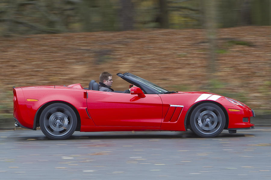 Corvette Grand Sport Convertible roof down