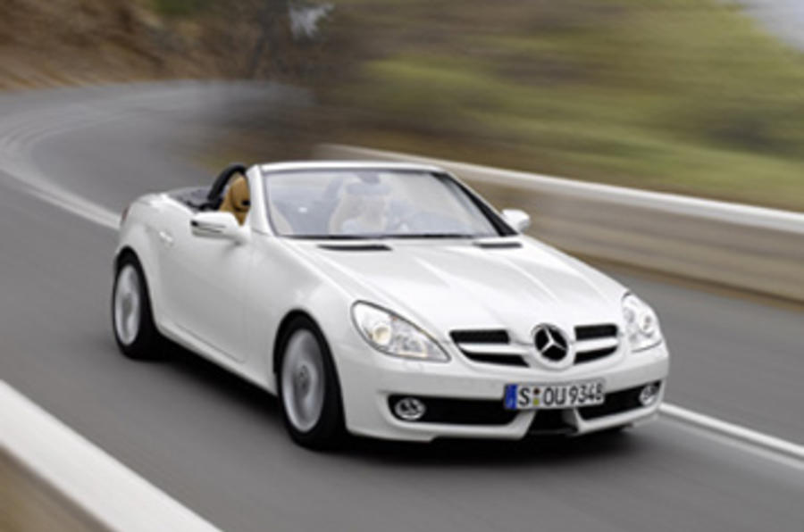 mercedes benz slk 350 facelift driven. Black Bedroom Furniture Sets. Home Design Ideas