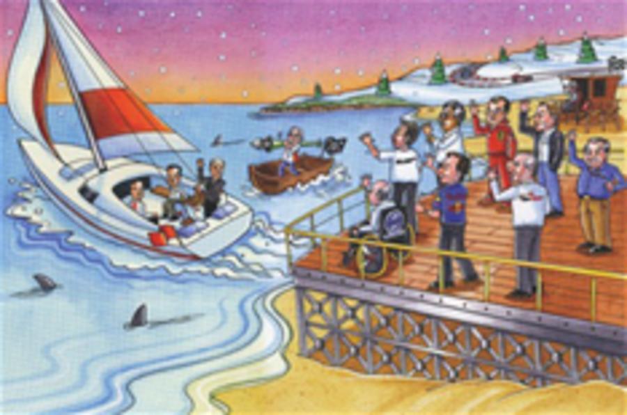 Bernie's Christmas card joke