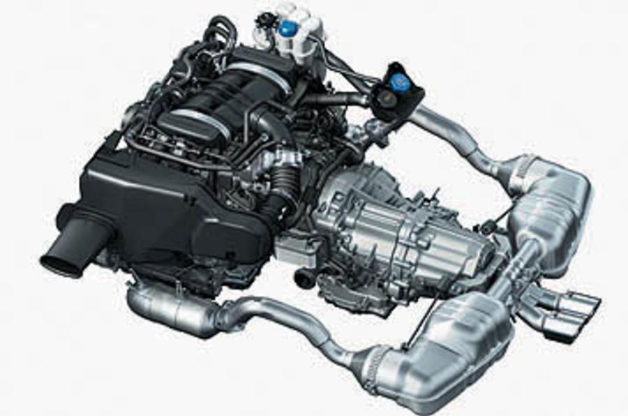 Porsche Cayman 3on Porsche 4 Cylinder Boxer Engine