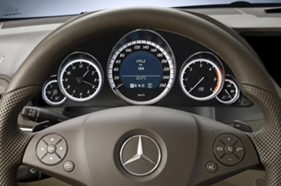Mercedes-Benz E250 CGI Coupe instrument cluster
