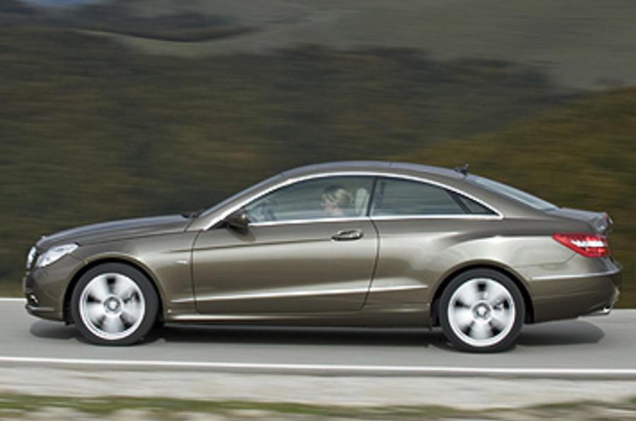 Mercedes-Benz E250 CGI Coupe side profile
