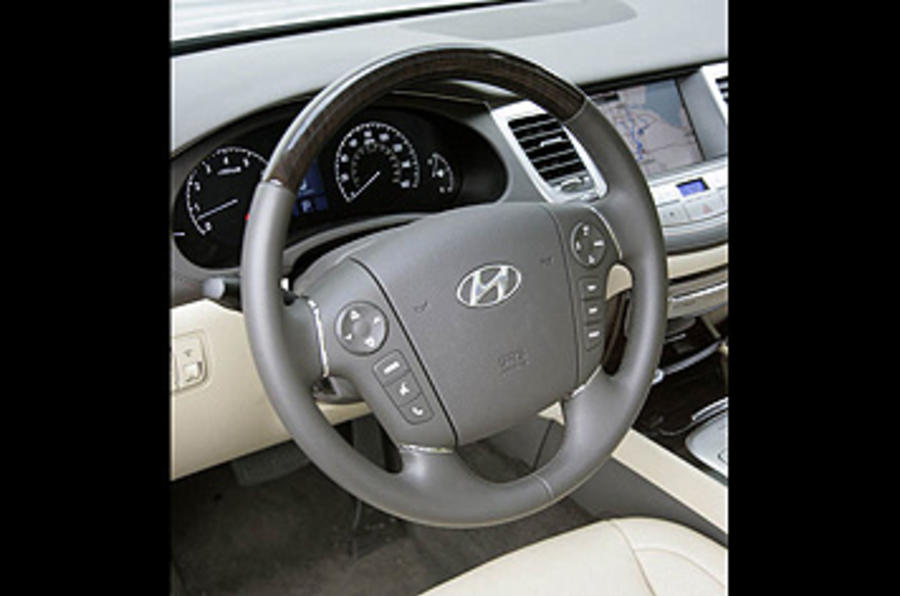 Hyundai Genesis steering wheel