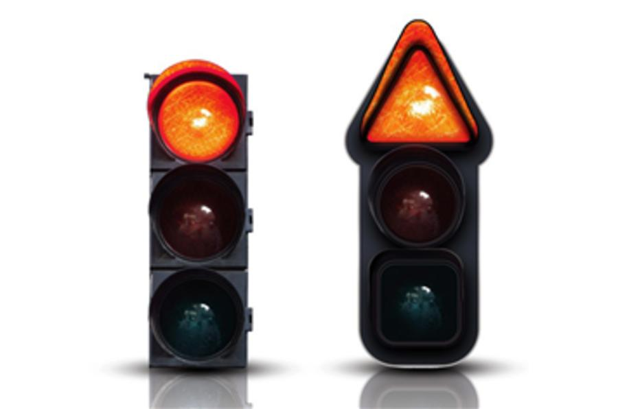 Traffic light for the colourblind