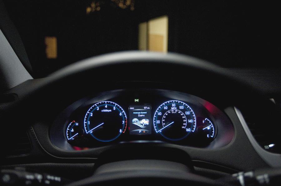 Hyundai Genesis instrument cluster