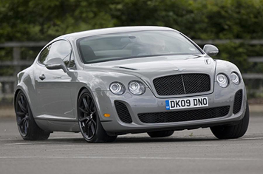 Bentley Continental Supersports hard cornering