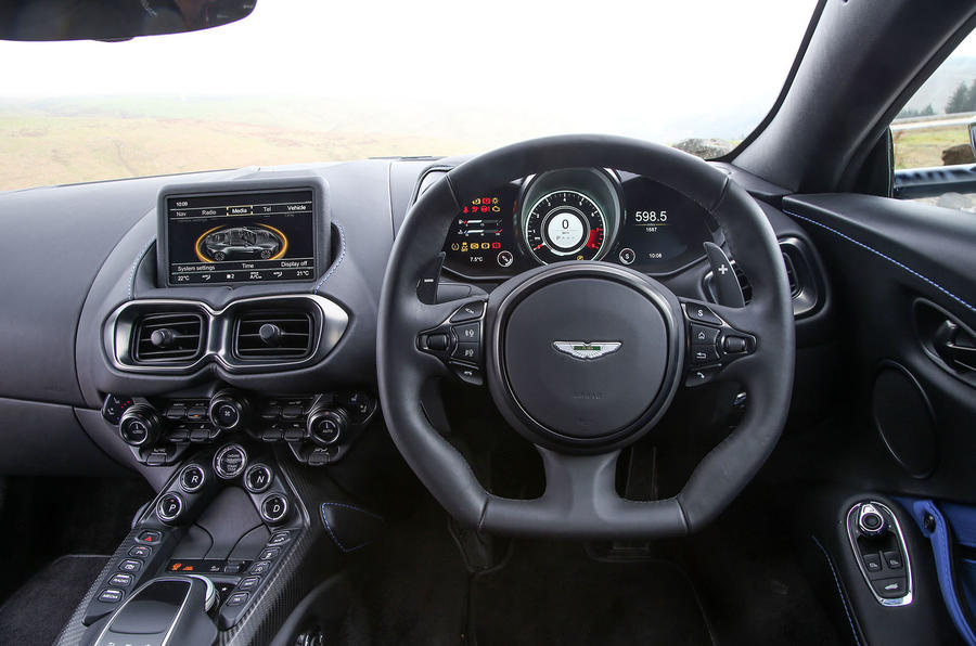 Aston Martin Vantage 2018 review steering wheel