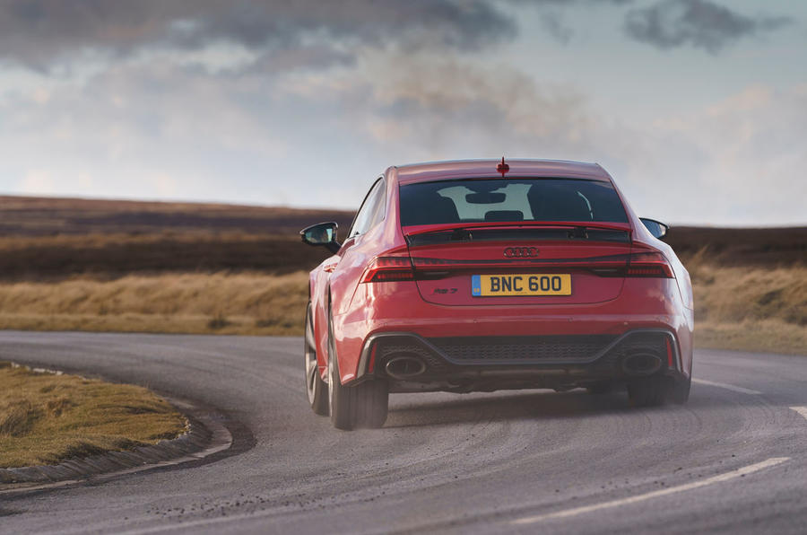 Audi RS7 Sportback 2020 road test review - on the road rear