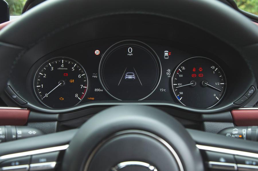 Mazda 3 Skyactiv-X 2019 road test review - instruments