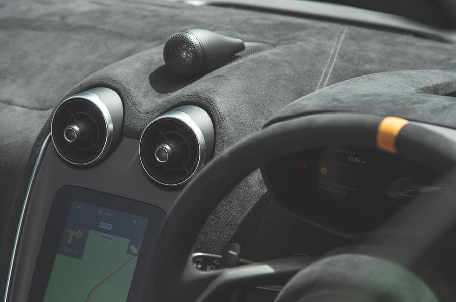 McLaren 600LT Spider 2019 road test review - air vents