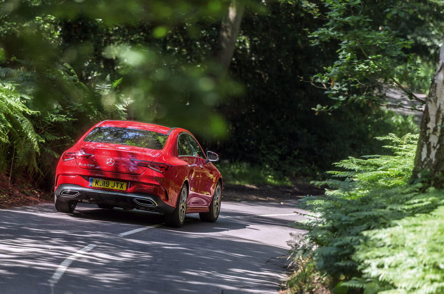 Mercedes-Benz CLA 2019 road test review - on the road rear
