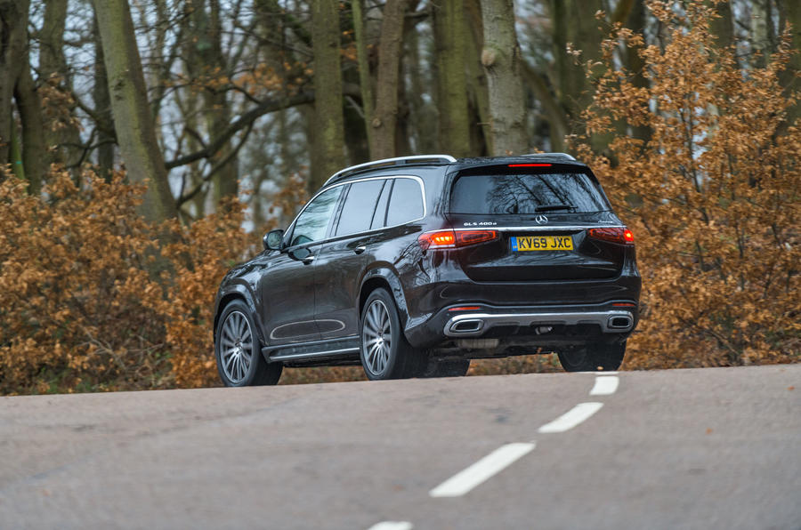 Mercedes-Benz GLS 2020 road test review - cornering rear