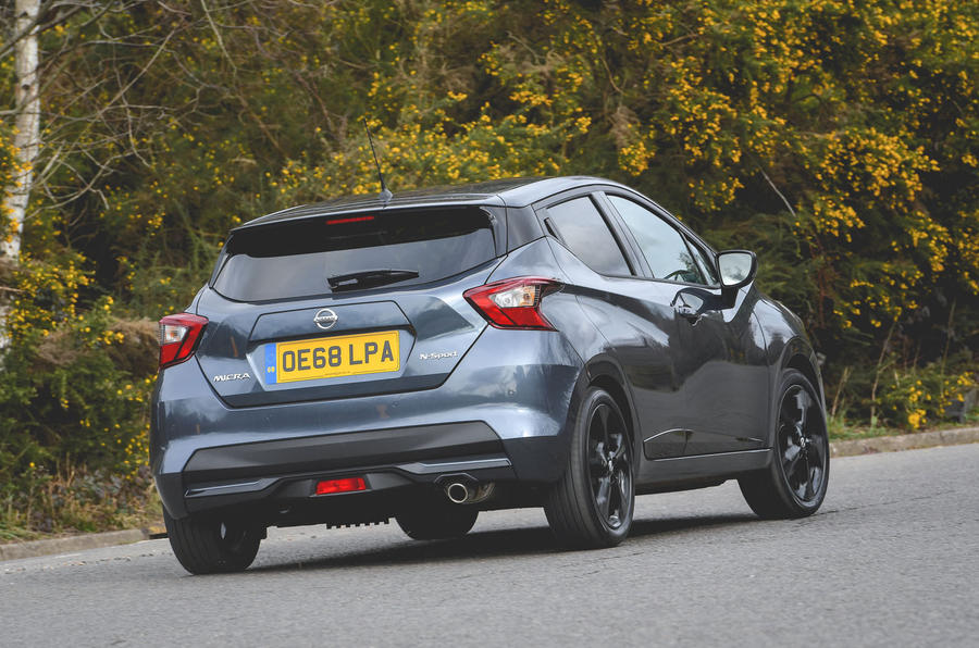 Nissan Micra N-Sport 2019 road test review - cornering rear