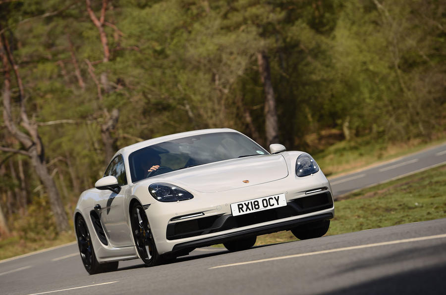 Porsche 718 Cayman GTS 2018 review cornering