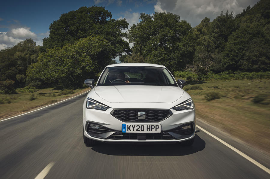 Seat Leon 2020 road test review - on the road nose