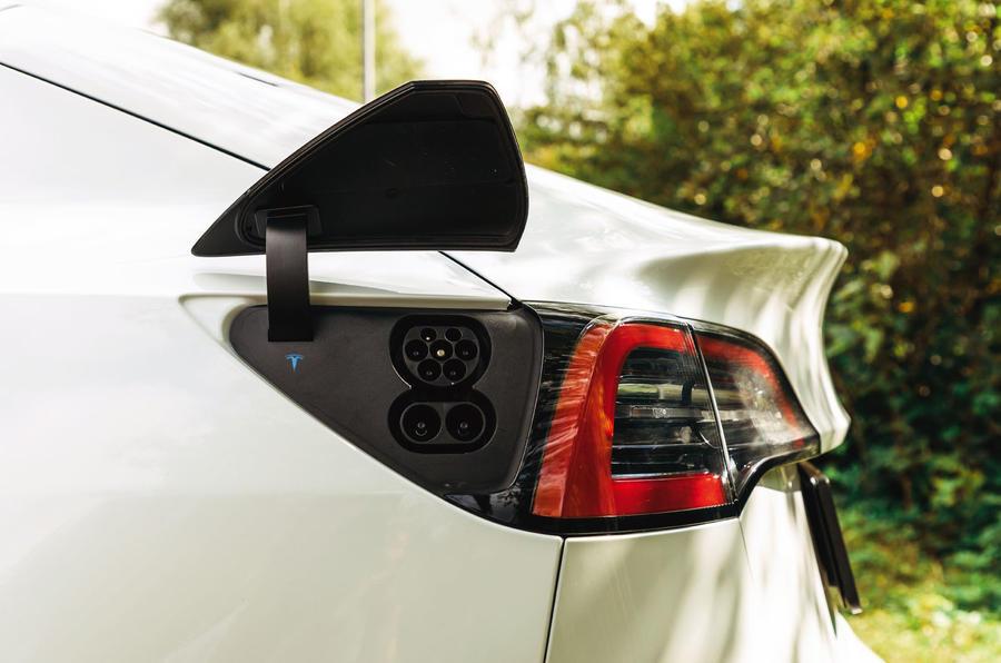 Tesla Model 3 road test - charging port