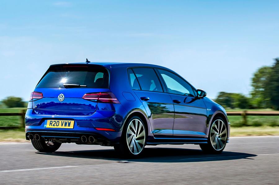 Volkswagen Golf R 2019 road test review - cornering rear