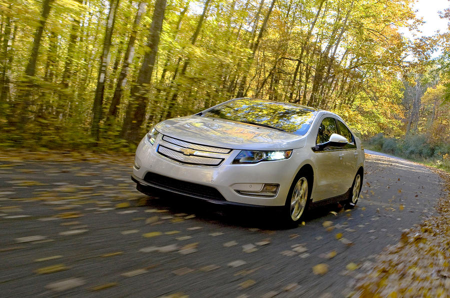 Chevrolet Volt on the road