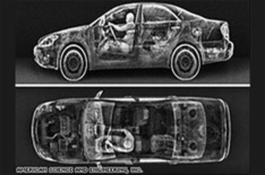 The drive-through X-ray machine
