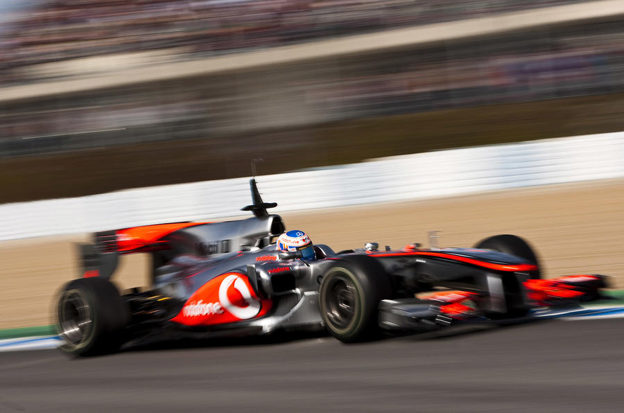 Button tops latest F1 test