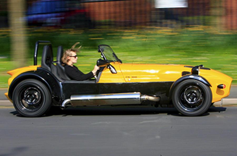 Westfield 1600 Sport Turbo cornering