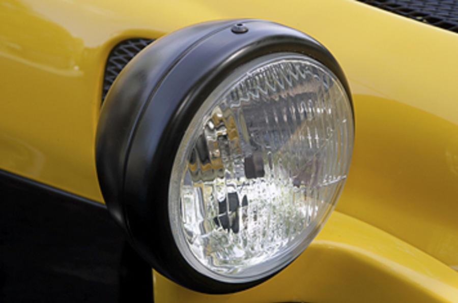 Westfield 1600 Sport Turbo headlights