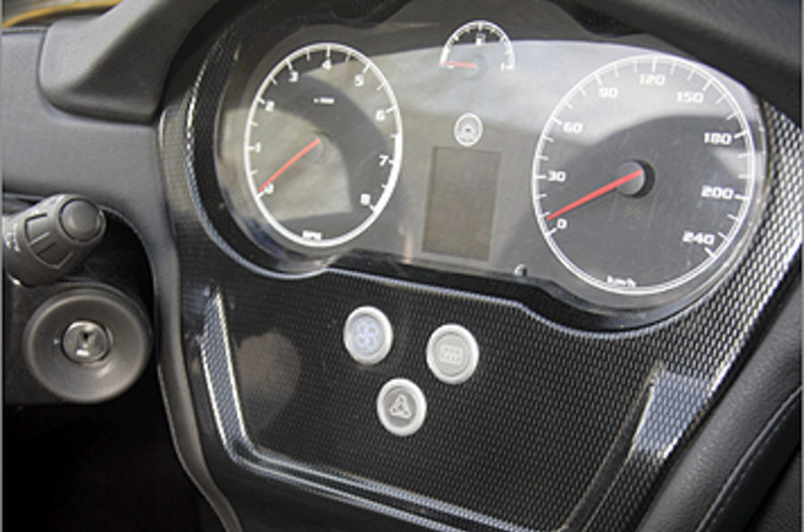 Westfield 1600 Sport Turbo instrument cluster