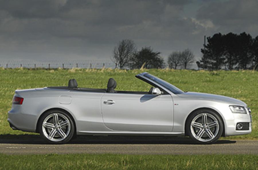 Audi A5 roof down