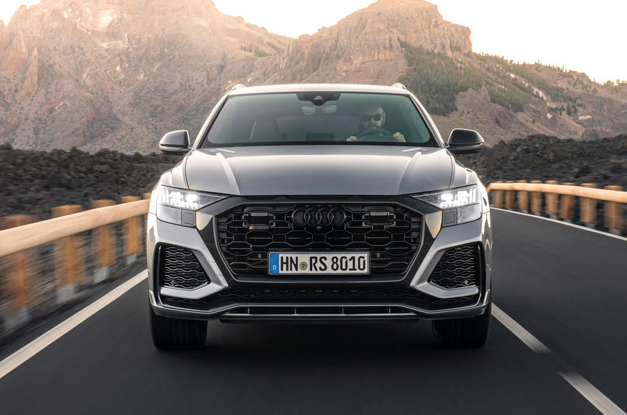 Audi RS Q8 2020 road test review - on the road nose