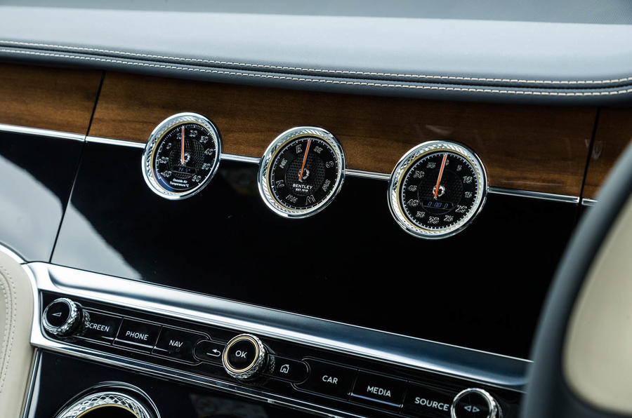Bentley Continental GT 2018 Autocar road test review analogue dials
