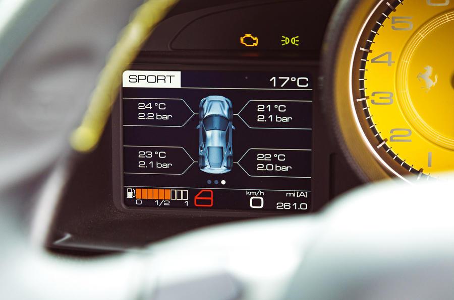 Ferrari 488 Pista 2019 road test review - LCD screen