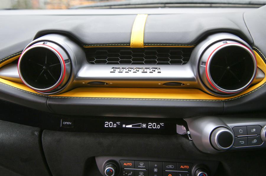Ferrari 812 Superfast 2018 road test review centre console
