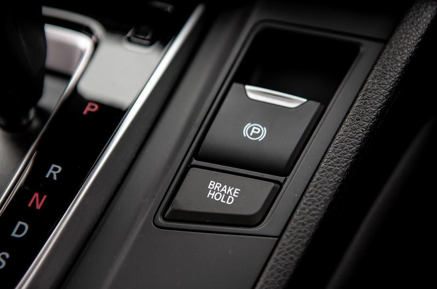 Honda CR-V 2018 road test review - parking brake