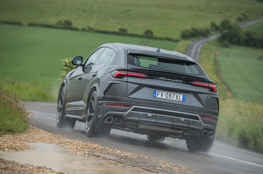 Lamborghini Urus 2019 road test review - on the road rear