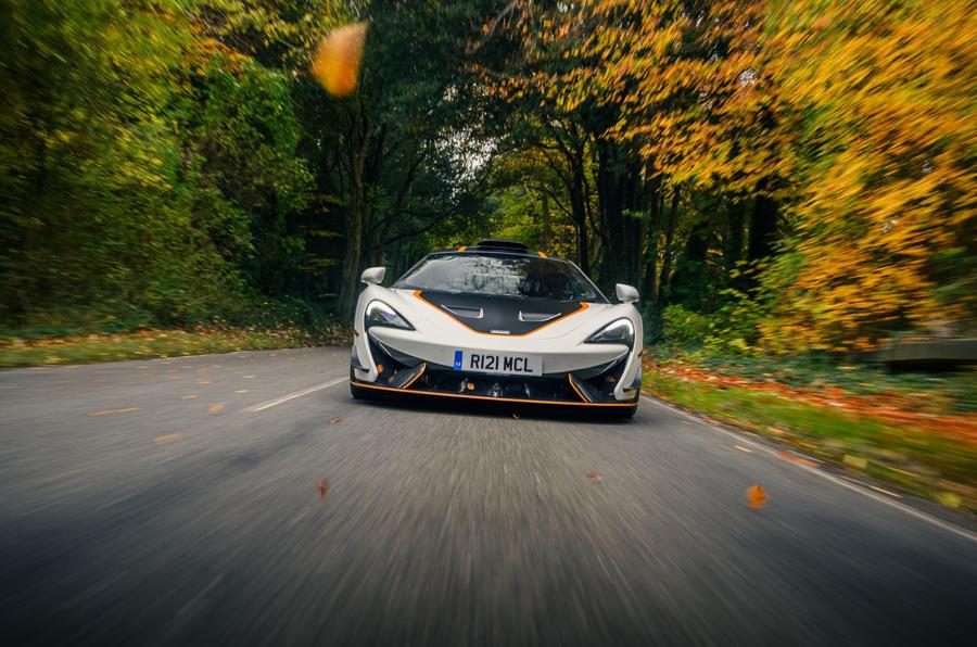 23 McLaren 620R 2021 road test review hero nose