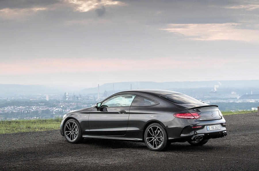 Mercedes-AMG C43 Coupe 2018 road test review static rear