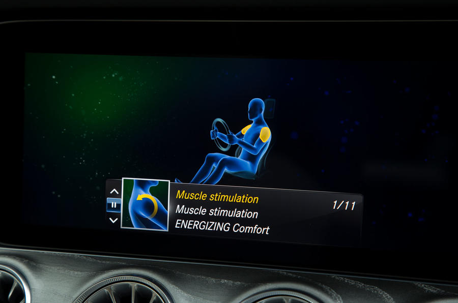 Mercedes-AMG CLS 53 2018 road test review - infotainment seat massagers