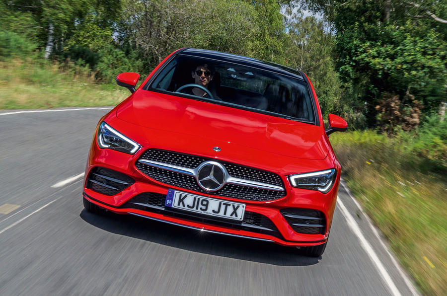Mercedes-Benz CLA 2019 road test review - on the road nose