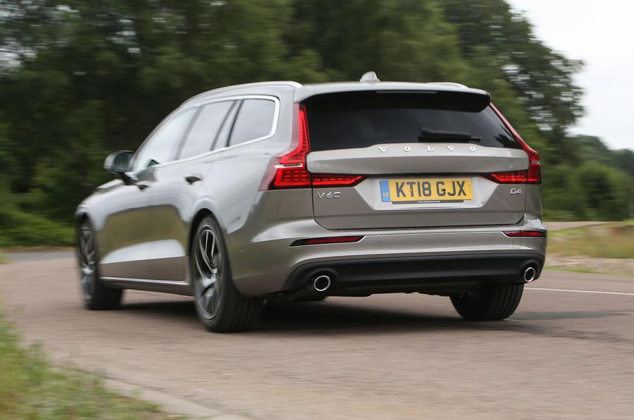 Volvo V60 2018 road test review cornering rear
