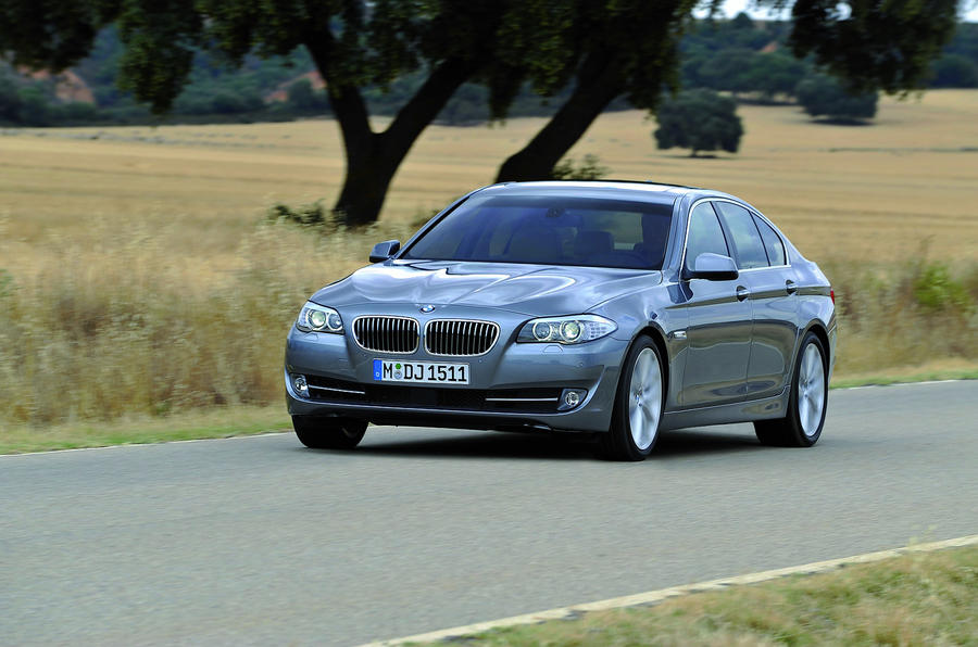 BMW 5 Series 530d on the road