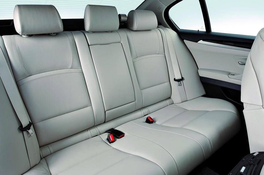 BMW 5 Series 530d rear seats