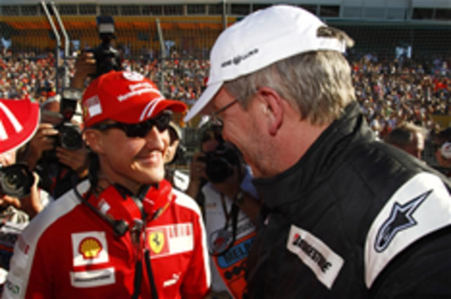 Ferrari confirms Schuey/Merc