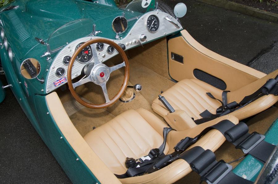Allard J2X MkII's plush interior