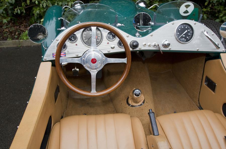 Driver's view in the Allard