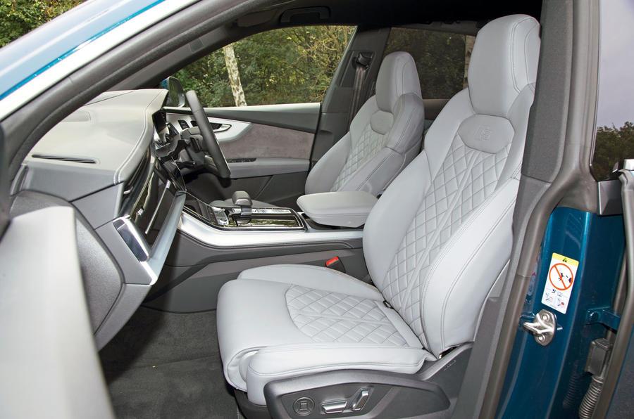 Audi Q8 50 TDI Quattro S Line 2018 road test review - front seats