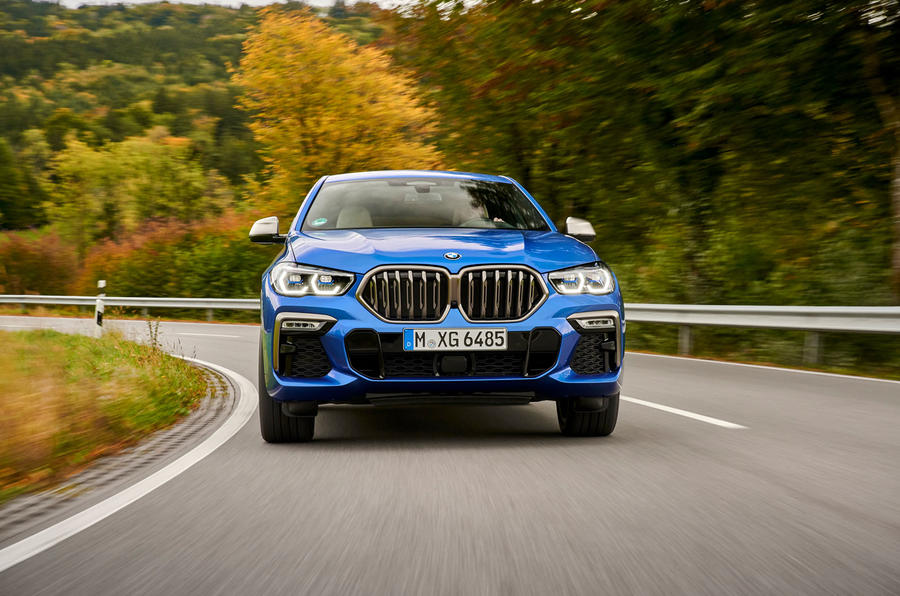 BMW X6 M50i 2019 road test review - on the road nose