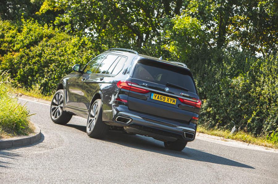 BMW X7 2020 : examen de l'essai routier - les virages à l'arrière